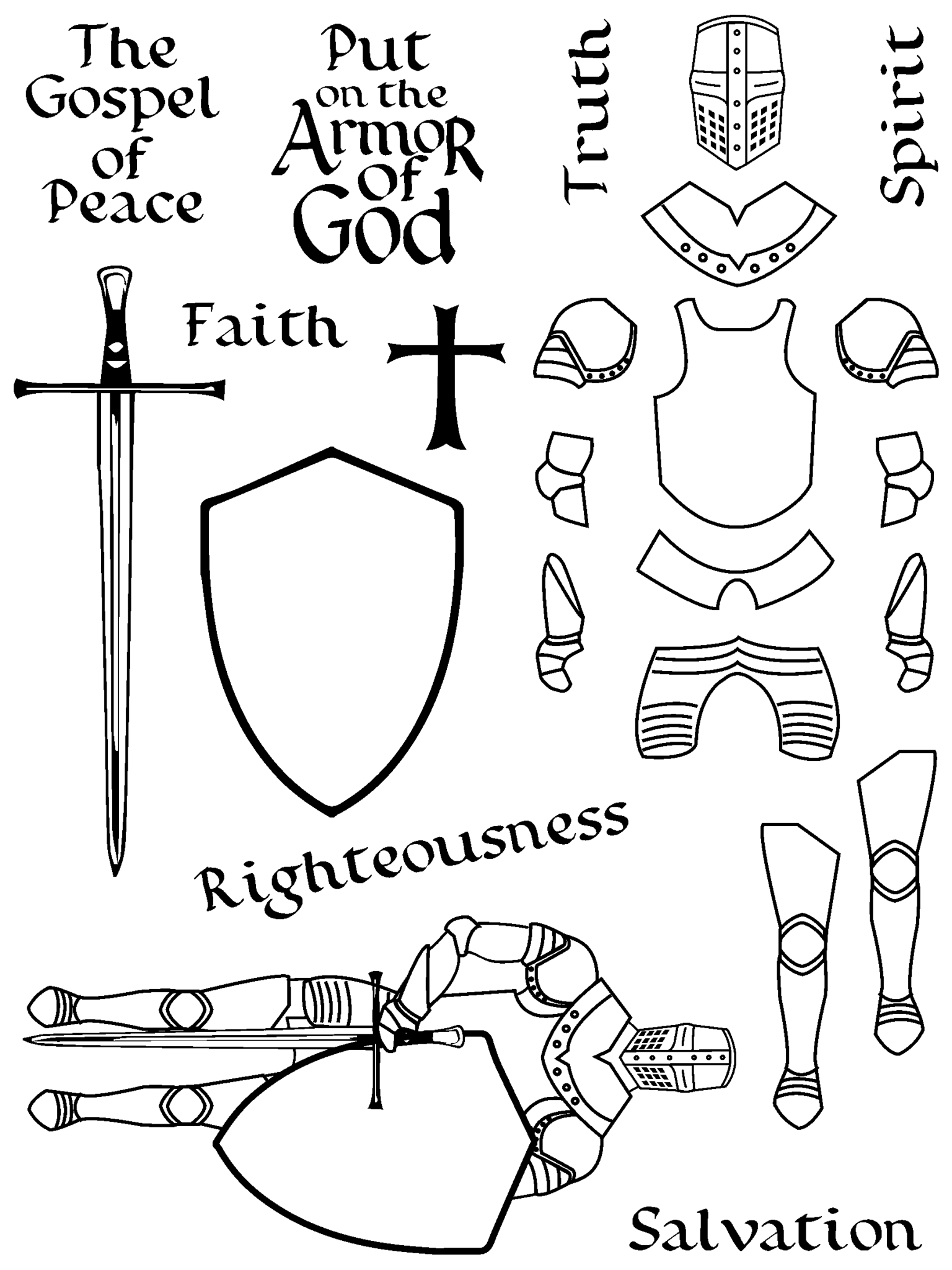 1536x2048 Armor Of God Bible Journaling Clear Stamps