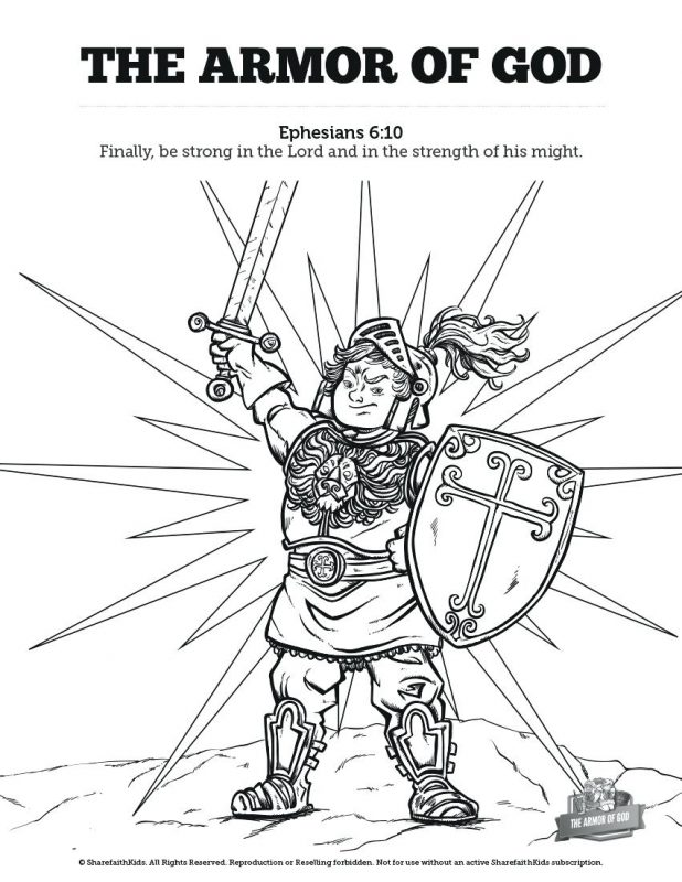 618x800 Coloring Inspiring Armour Of God Coloring Page. Armour Of God