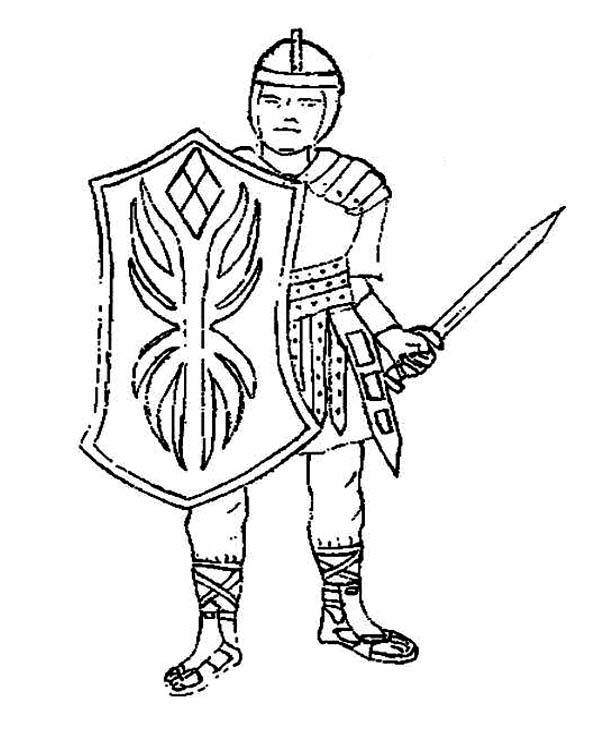 600x746 Full Armor Of God. Armour Of God For Children Coloring S Best
