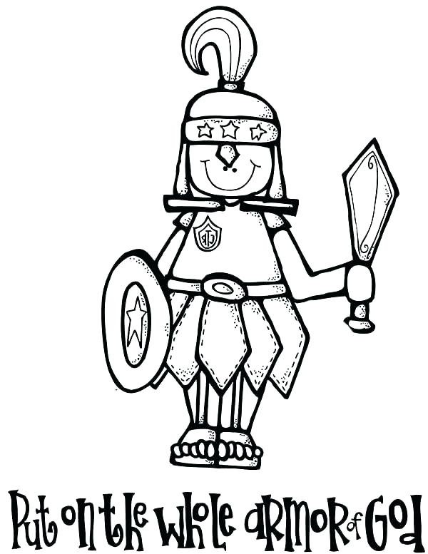 600x777 New Armor Of God For Kids Coloring Pages Or Armor Of God Coloring