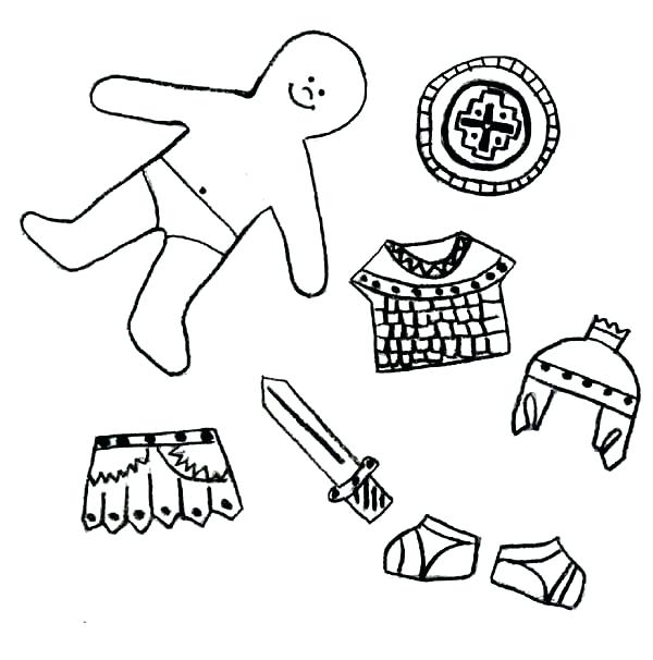 600x606 Armour Of God Coloring Page