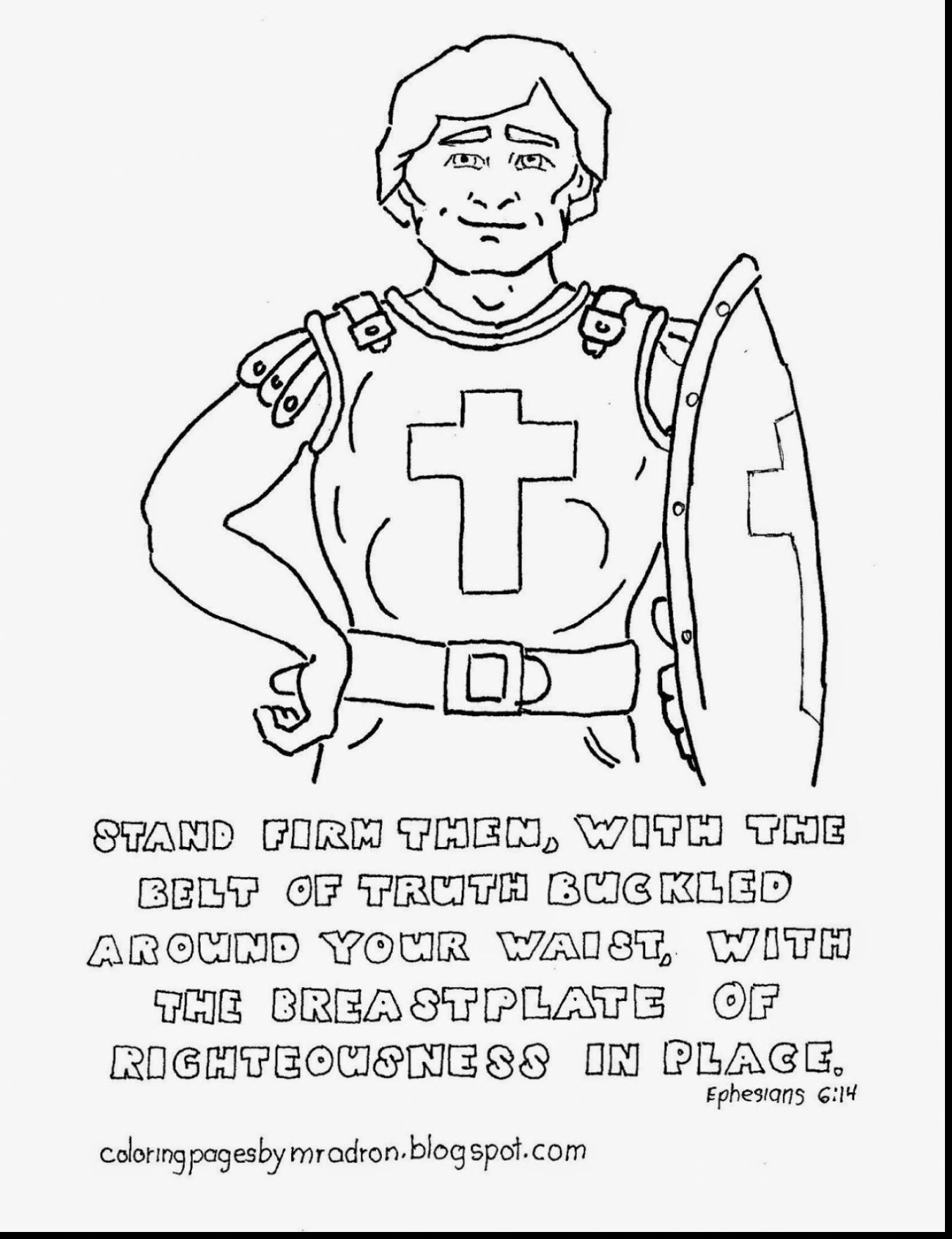 1353x1760 Armor Of God Coloring Pages