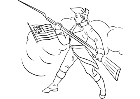 480x342 Continental Army Soldier Coloring Page Free Printable Coloring Pages