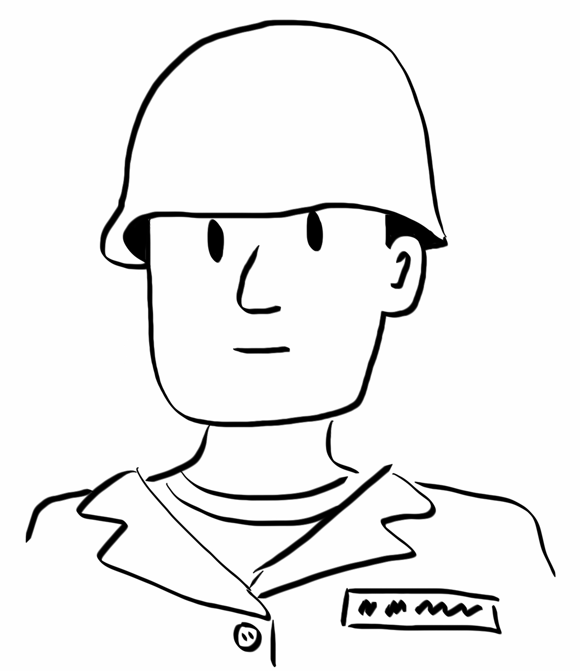1167x1350 How To Draw A Good Enough Soldier