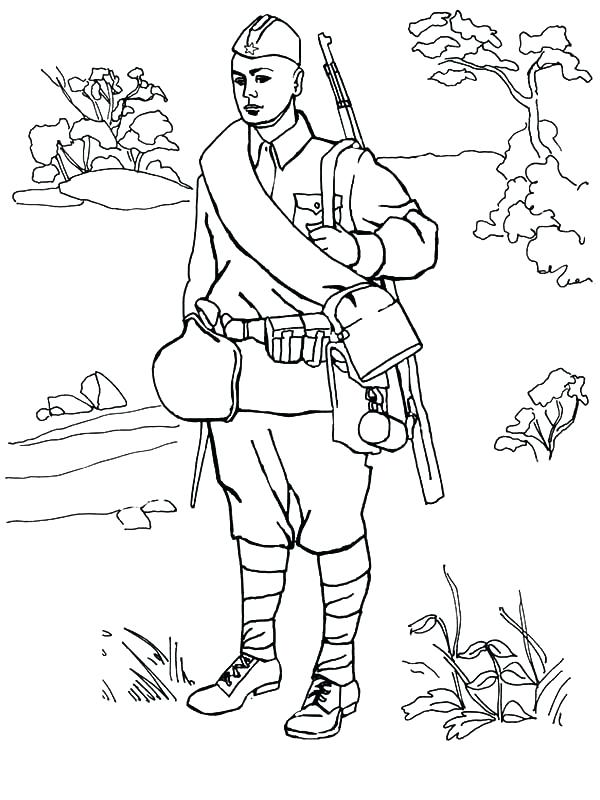 600x800 Army Guy Coloring Pages Young Army Man Coloring Pages Army Guys