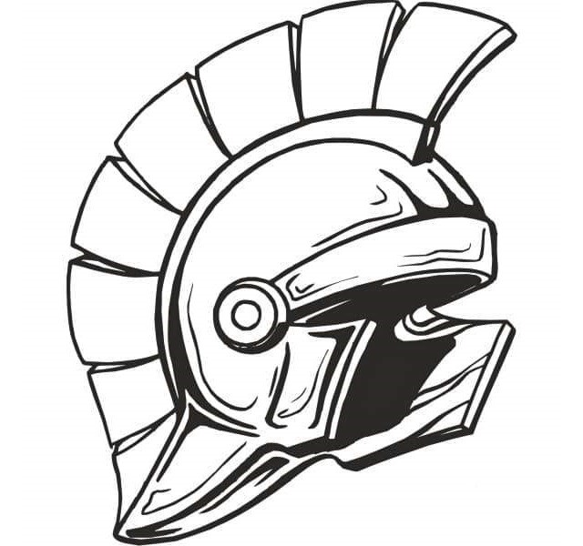 640x600 Helmet Spartan Coloring Page Army Coloring And Activity Page