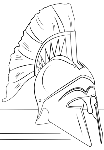 333x480 Roman Soldier Helmet Coloring Page Free Printable Coloring Pages