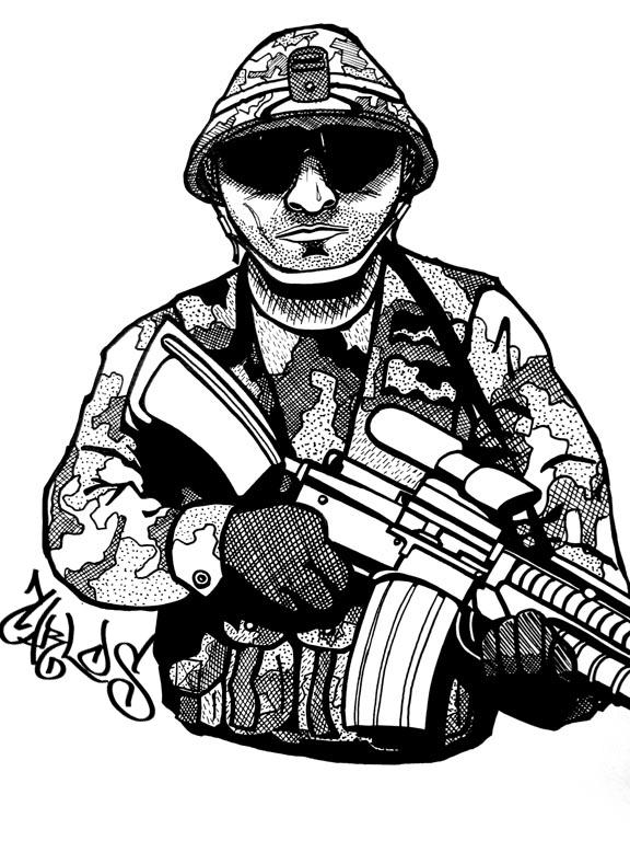 576x768 Armyman By Carlosmcz