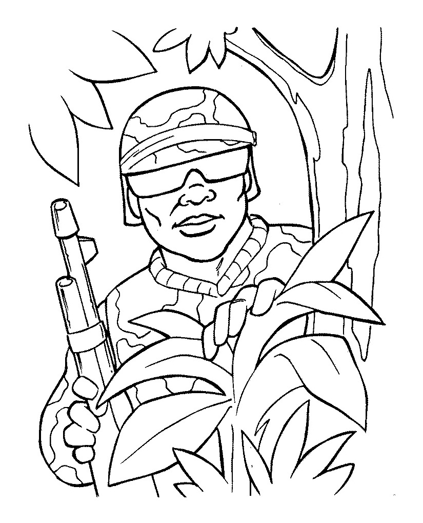 825x1019 Free Printable Army Coloring Pages For Kids