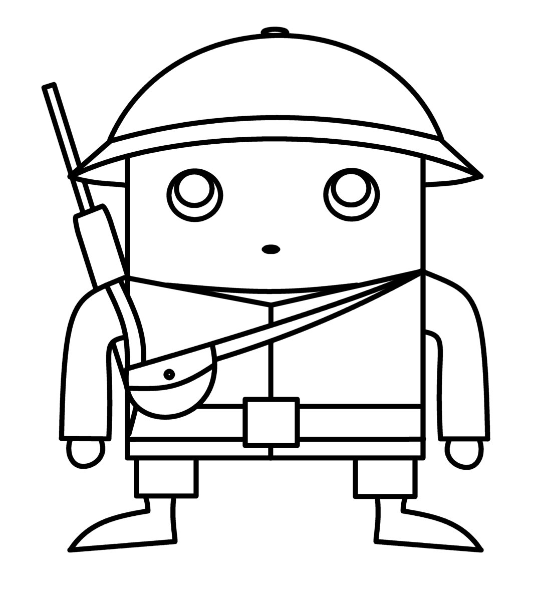 1068x1206 How To Draw Cartoons Chibi Soldier