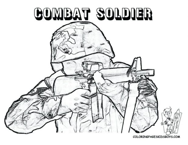 618x477 Military Coloring Page Free Army Soldier Salvation Book Pages