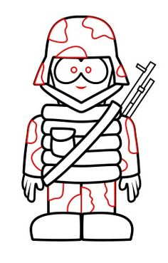 236x369 Pictures Army Simple Drawing,