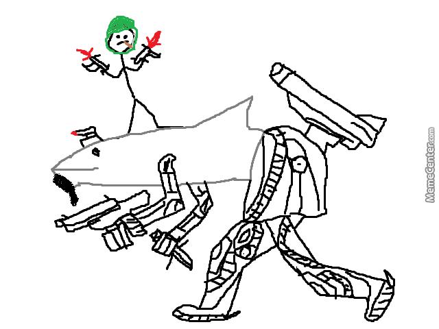 640x480 This Isrmy Man Named Steve On His Half Shark Half Robot