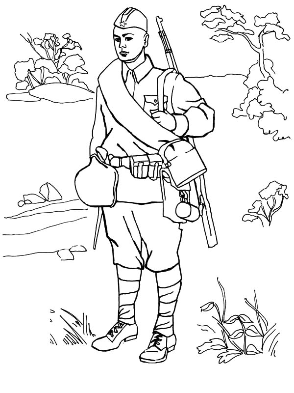 600x800 Young Army Man Coloring Pages Young Army Man Coloring Pages