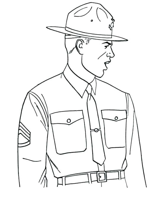 550x672 Army Guy Coloring Pages