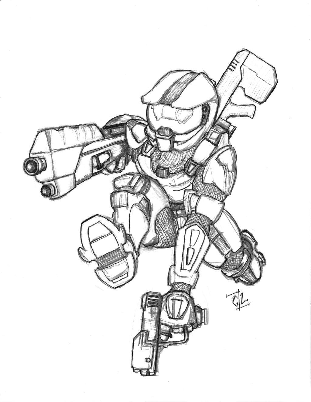 1024x1325 Army Man Drawing