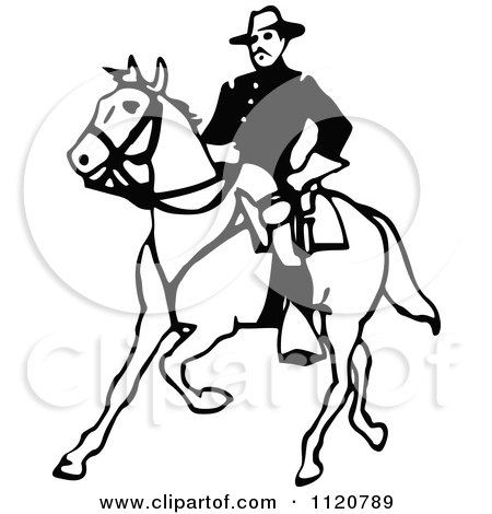 450x470 Clipart Of A Retro Vintage Black And White Army Soldier