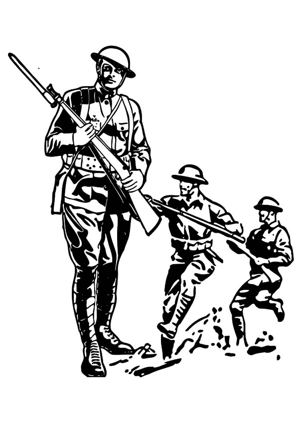 600x847 Military Soldier Guerilla In The Jungle Coloring Pages Color Luna