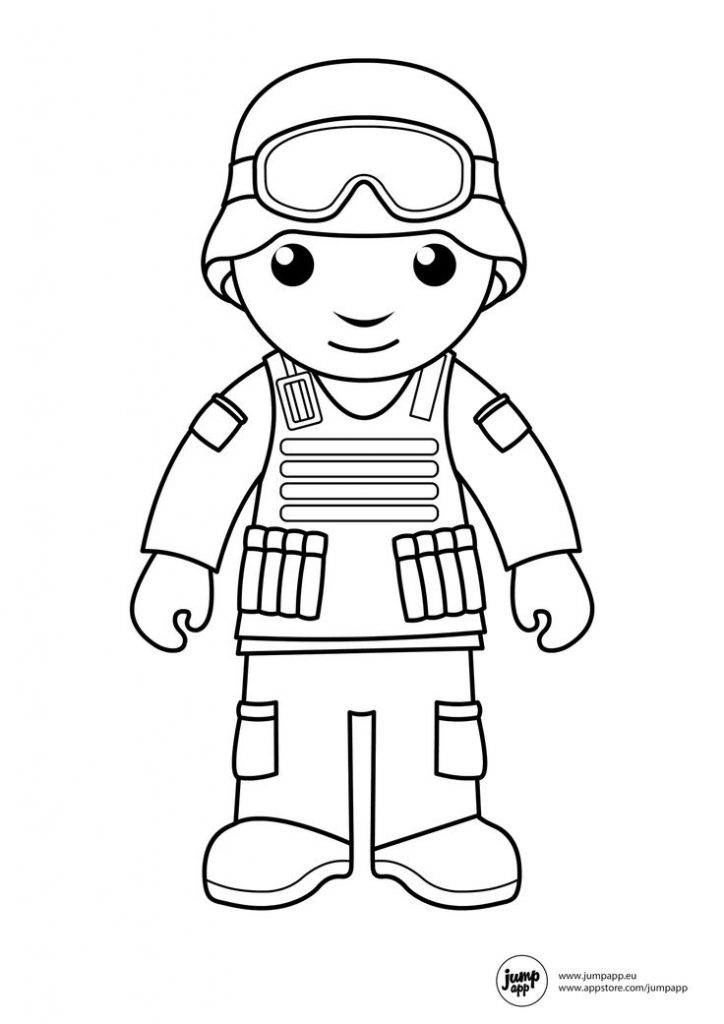 724x1024 Soldier Coloring Pages
