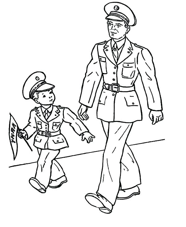 600x734 Soldier Pictures To Color View Larger Army Soldier Coloring