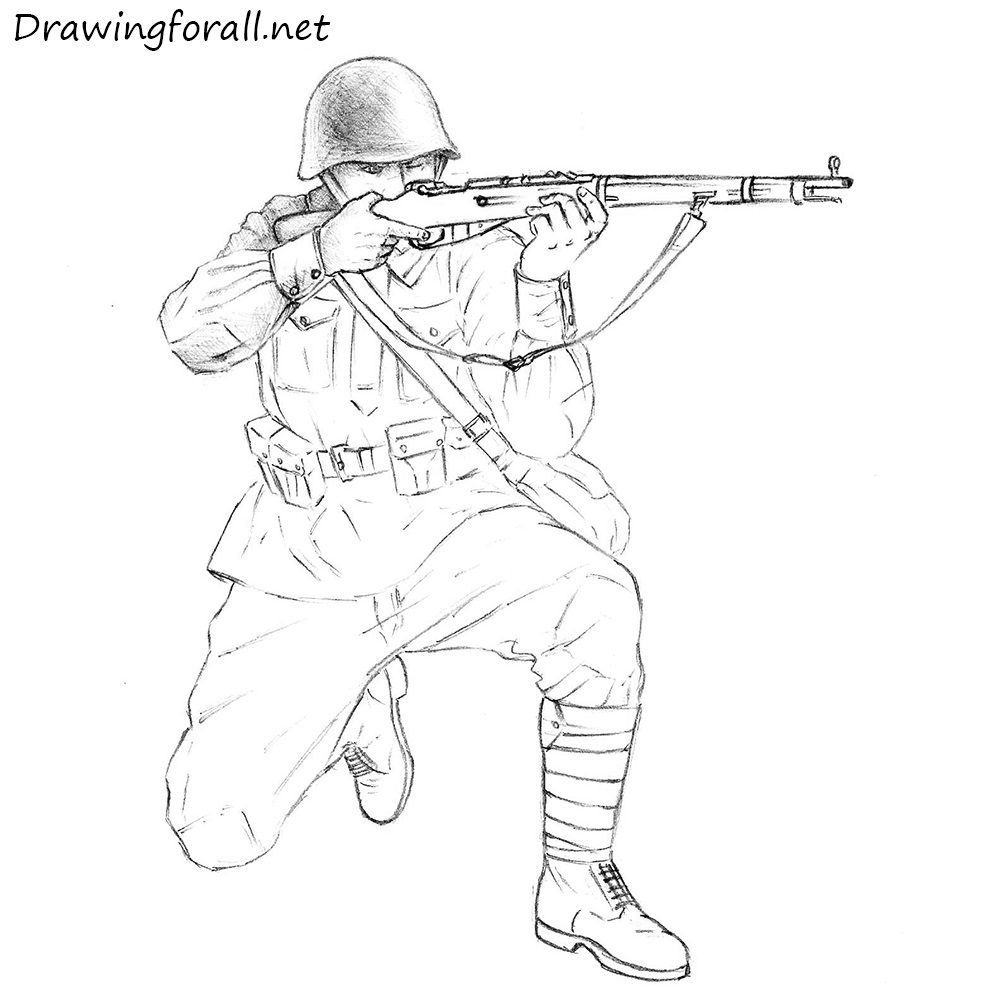 Army Soldiers Drawing