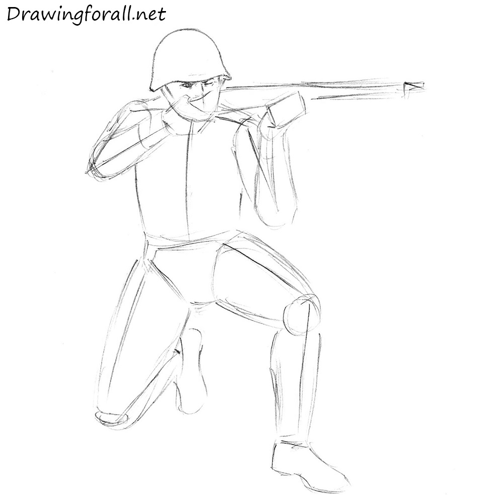 1000x998 Army Soldier Drawing Easy
