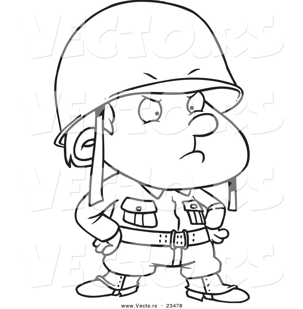 1024x1044 Cartoon Soldier Drawing Black And White Cartoon Illustration