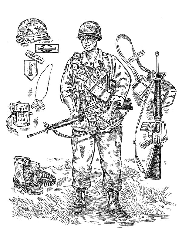 600x771 An Army Soldier Gear Coloring Pages Bulk Color