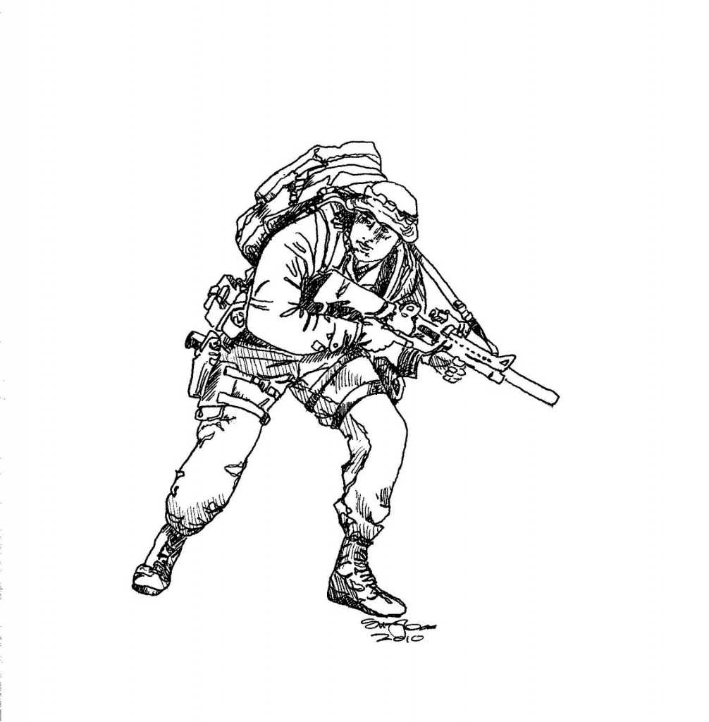 1006x1024 How To Draw A Army Soldier How To Draw Army Soldier Drawing Sketch
