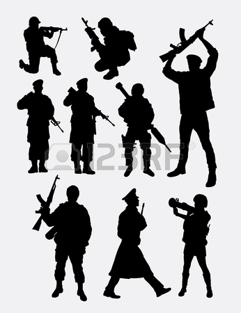 346x450 Soldier Army Action Hand Drawing. Good Use For Symbol, Logo