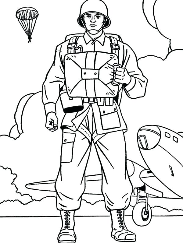 600x798 Soldier Pictures To Color View Larger Army Soldier Coloring