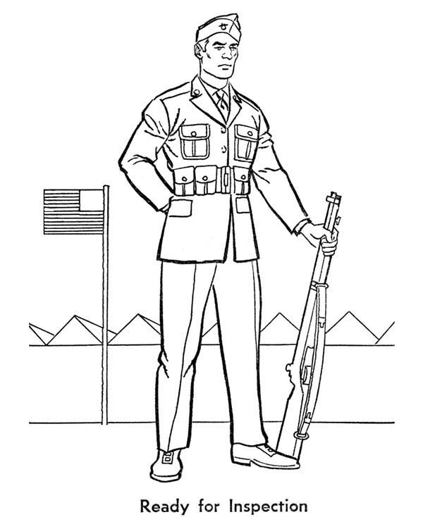 600x734 Army Soldier Coloring Page Free Download