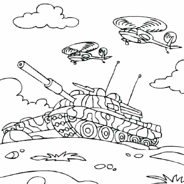 Army Tank Drawing