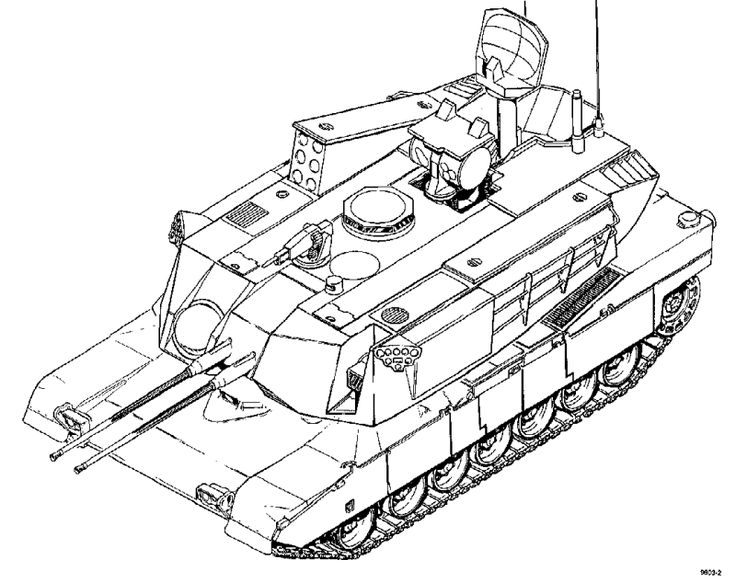 Army Tanks Drawing