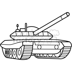 300x300 Royalty Free Military Armored Tank Outline 397976 Vector Clip Art