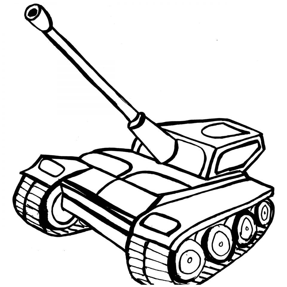 960x960 Army Armored Tank Colouring Pages To Print For Boy