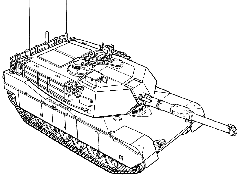 1024x760 Tank Coloring Pages