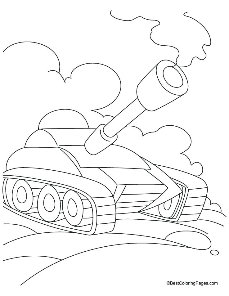 738x954 Army Tank Coloring Page Tank In Field Coloring Page Printable Army