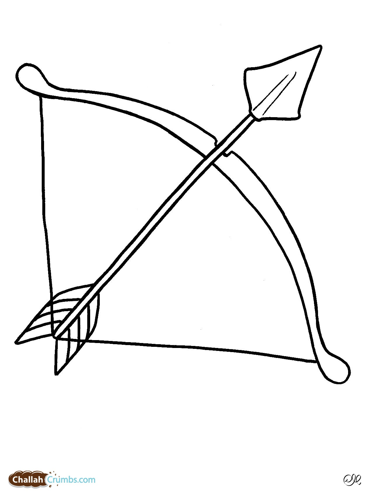 1275x1701 Bow And Arrow Coloring Pages