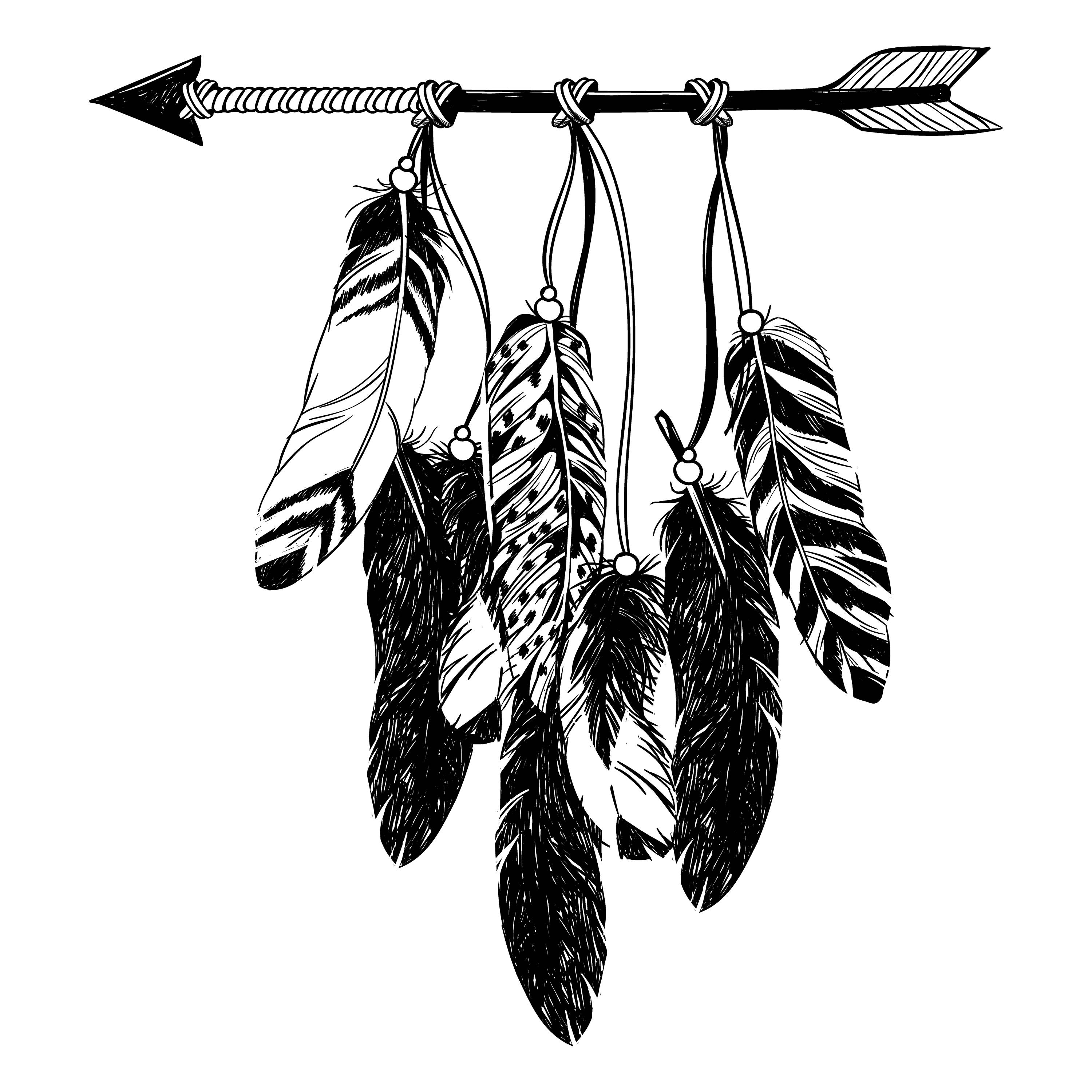 3000x3000 Boho Clipart, Boho Svg, Arrows Svg, Feathers Svg, Arrows Clip Art