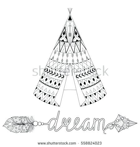 450x470 Teepee Coloring Pages Native Coloring Page Tipi Coloring Sheets