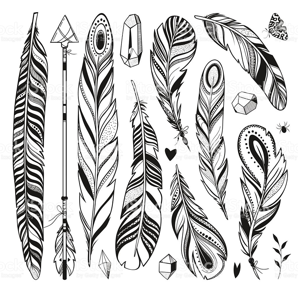 Arrow Feather Drawing at GetDrawings com | Free for personal