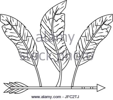 362x320 Nice Arrow With Feather Design Decoration Stock Vector Art