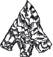 222x240 Flint Arrowhead Hand Drawn Flint Arrowhead, This Was My