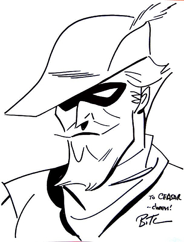 608x800 Green Arrow Sketch By Bruce Timm Bruce Timm Art