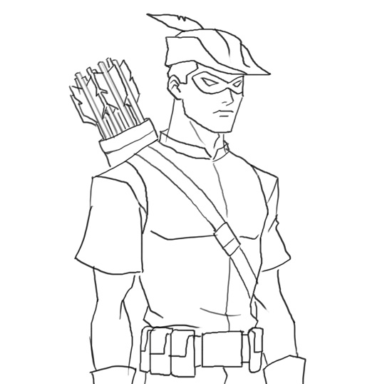 550x538 How To Draw Roy Harper Arsenal