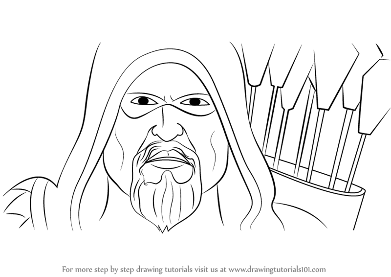 800x566 Learn How To Draw Green Arrow Face (Green Arrow) Step By Step