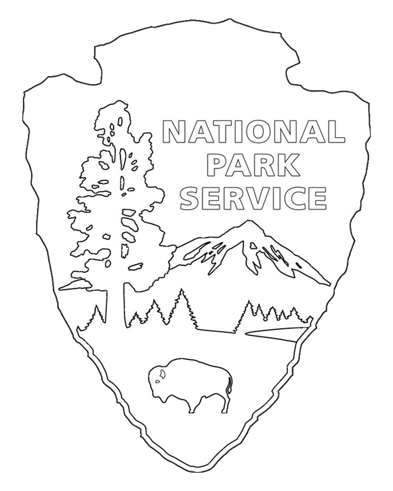 1314x1642 National Park Service Coloring Pages Tree Coloring Pages