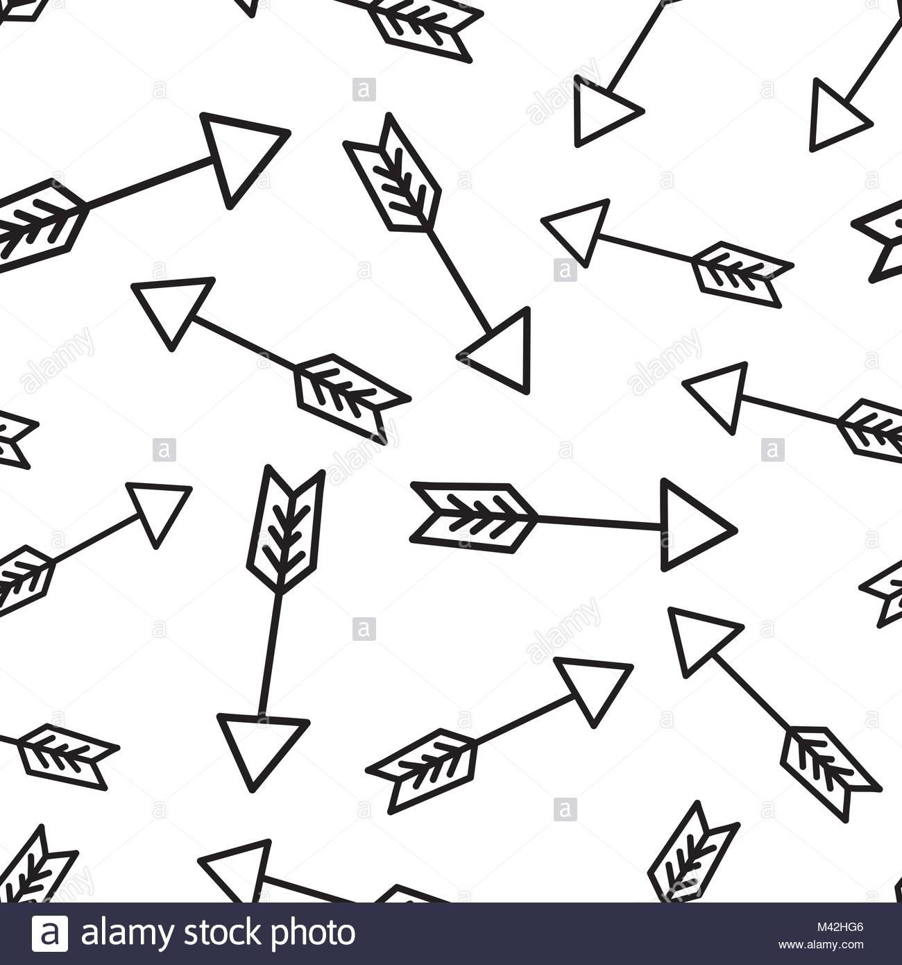 1300x1390 Hand Drawn Arrow Icon Seamless Pattern Background. Business Flat