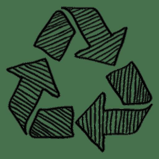 512x512 Hand Drawn Recycling Arrow